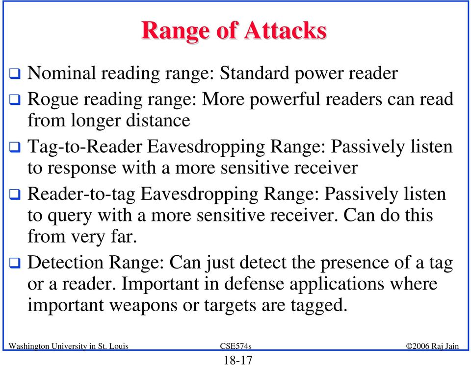 Tag-to-Reader Eavesdropping Range: Passively listen to response with a more sensitive receiver!