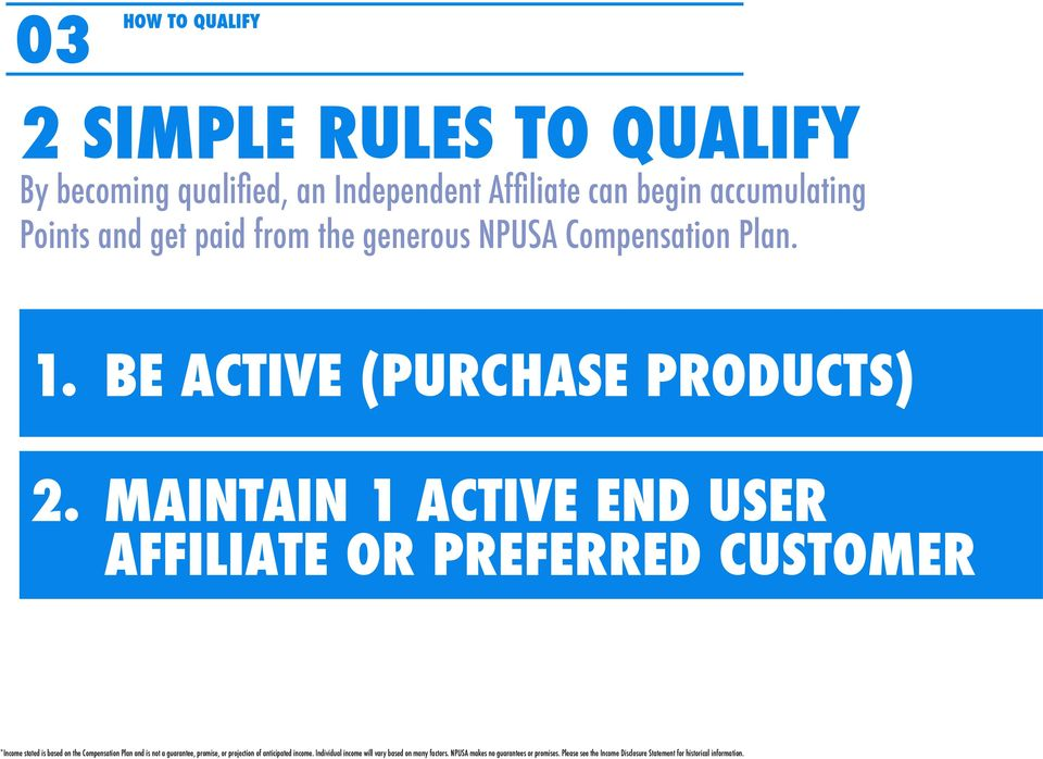 the generous NPUSA Compensation Plan. 1.