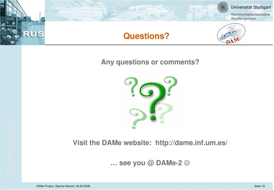 Visit the DAMe website: