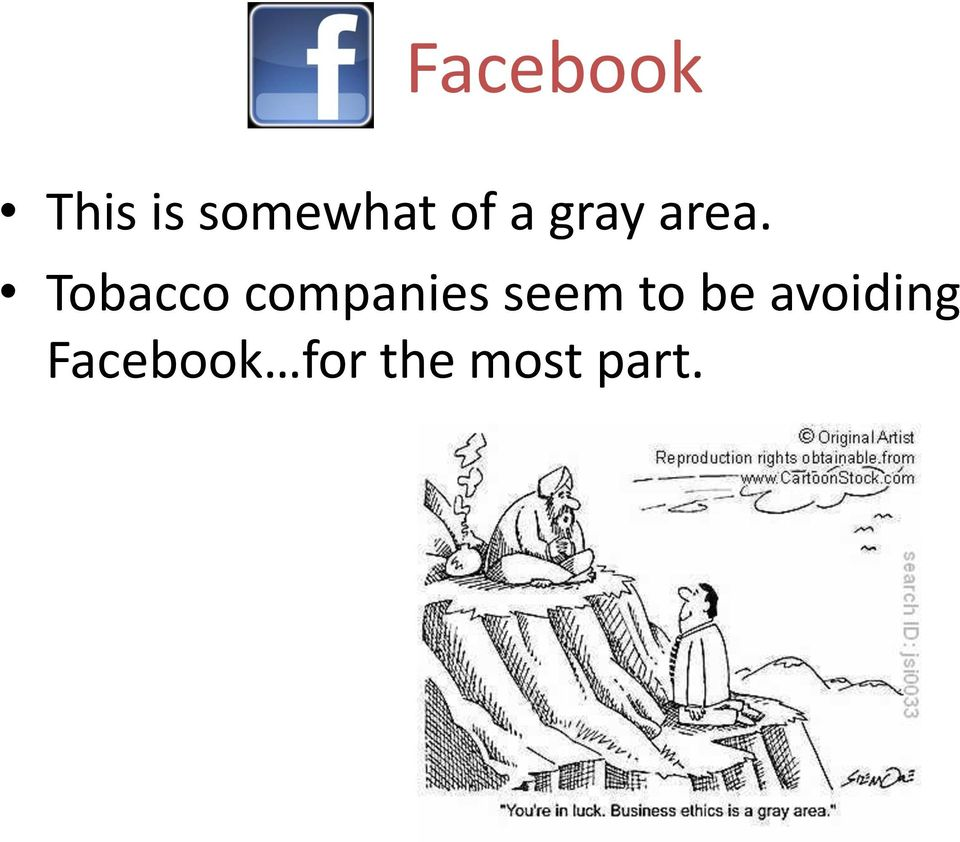 Tobacco companies seem to