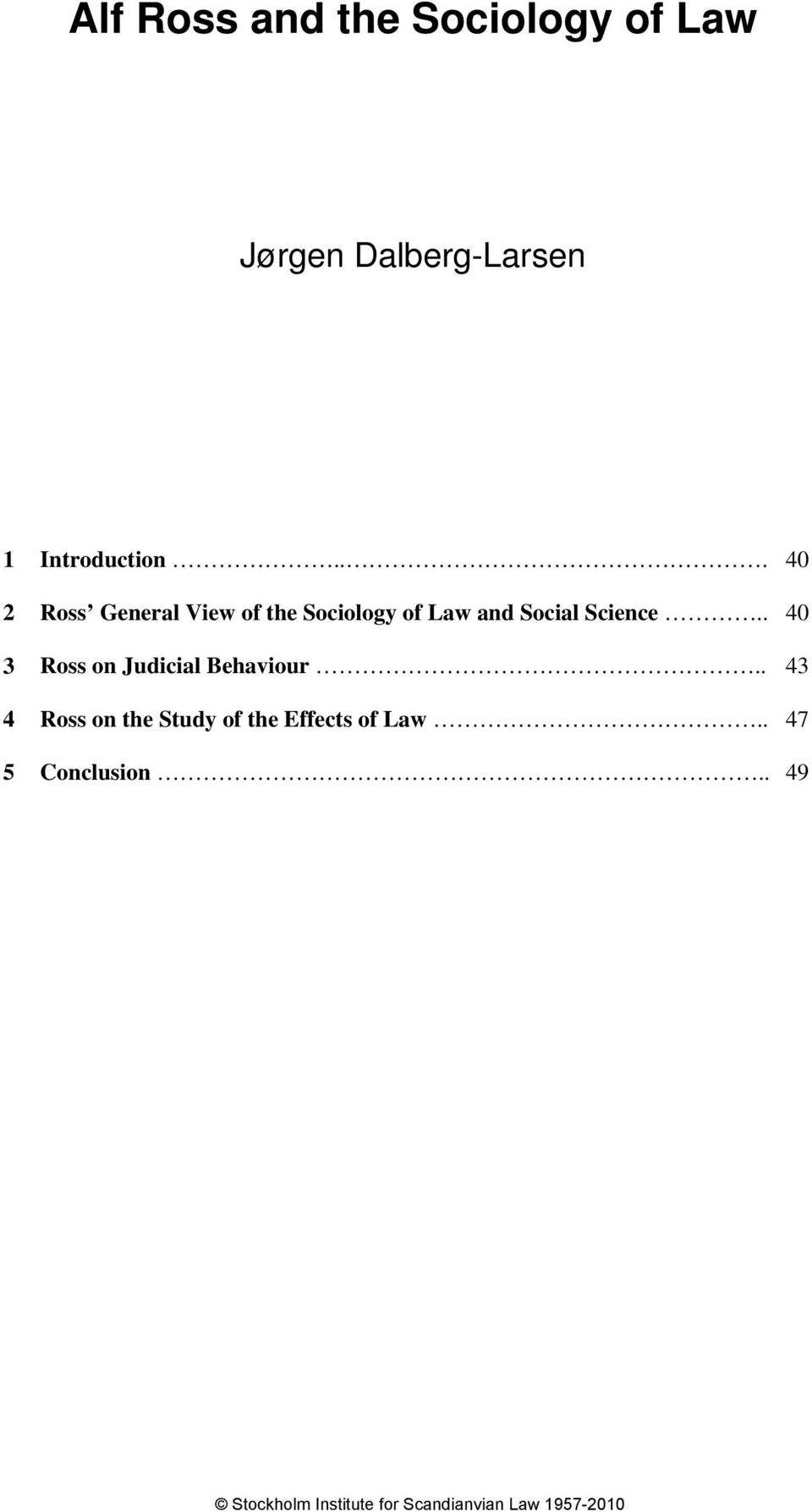 .. 40 2 Ross General View of the Sociology of Law and Social
