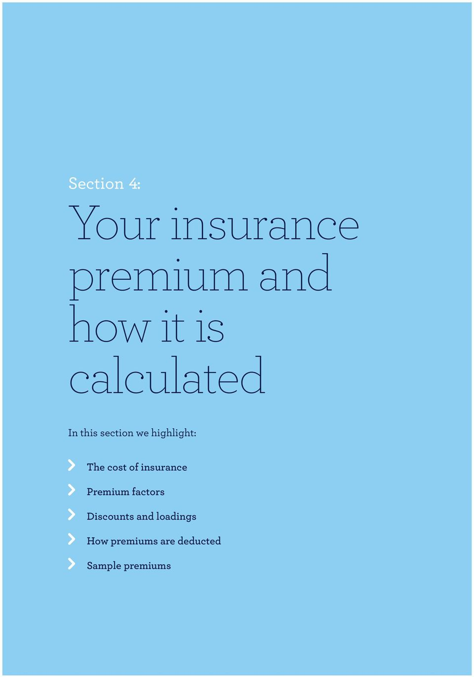cost of insurance Premium factors Discounts and