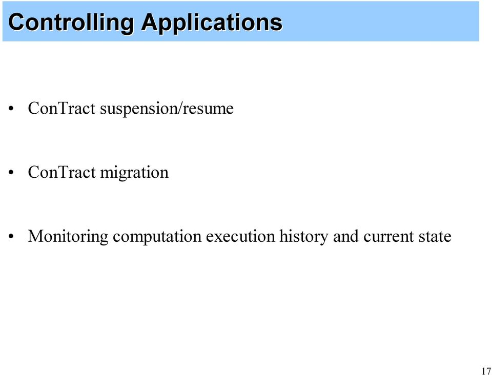 ConTract migration Monitoring