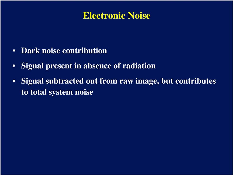 of radiation Signal subtracted out