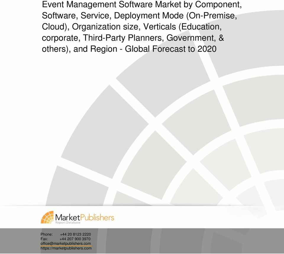 Third-Party Planners, Government, & others), and Region - Global Forecast to