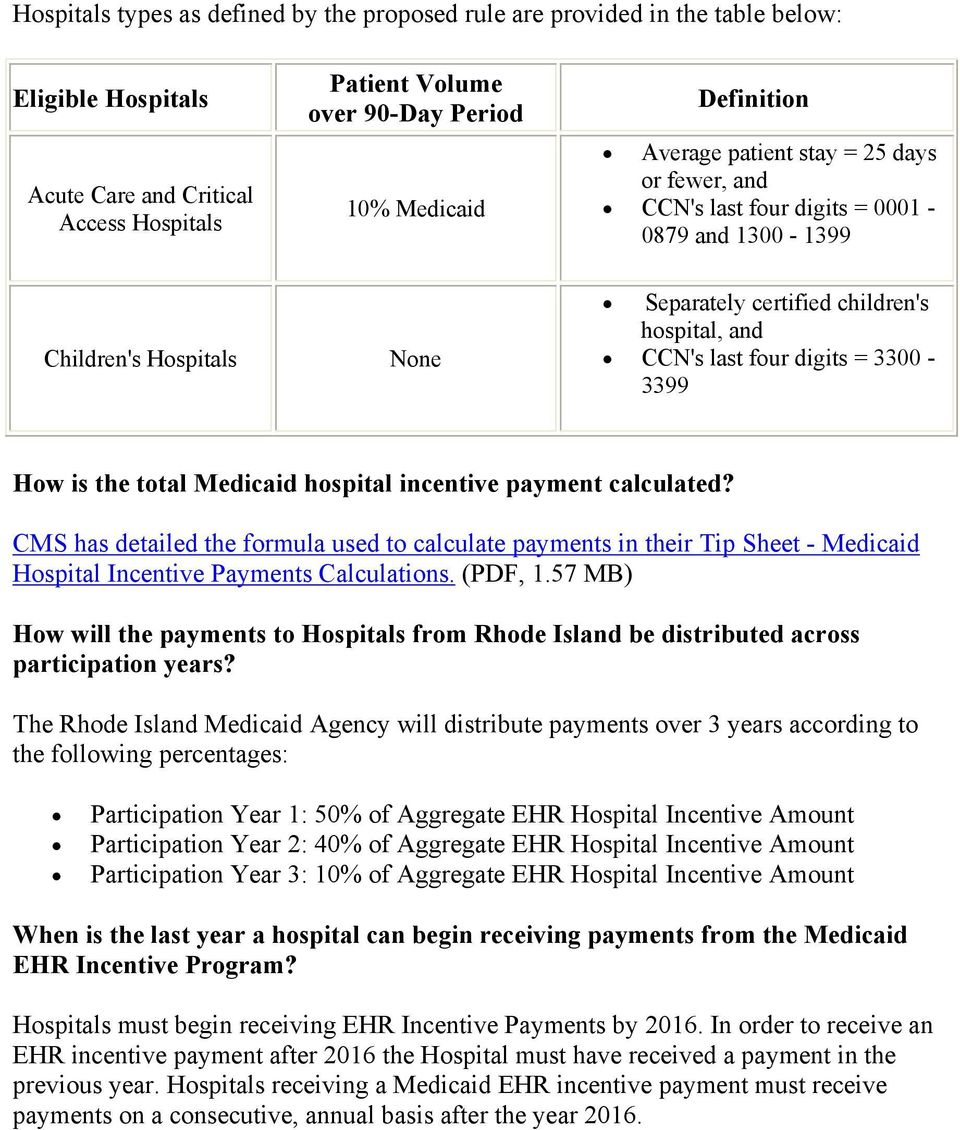 3300-3399 How is the total Medicaid hospital incentive payment calculated?