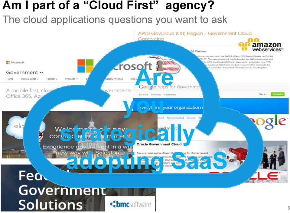 The cloud applications