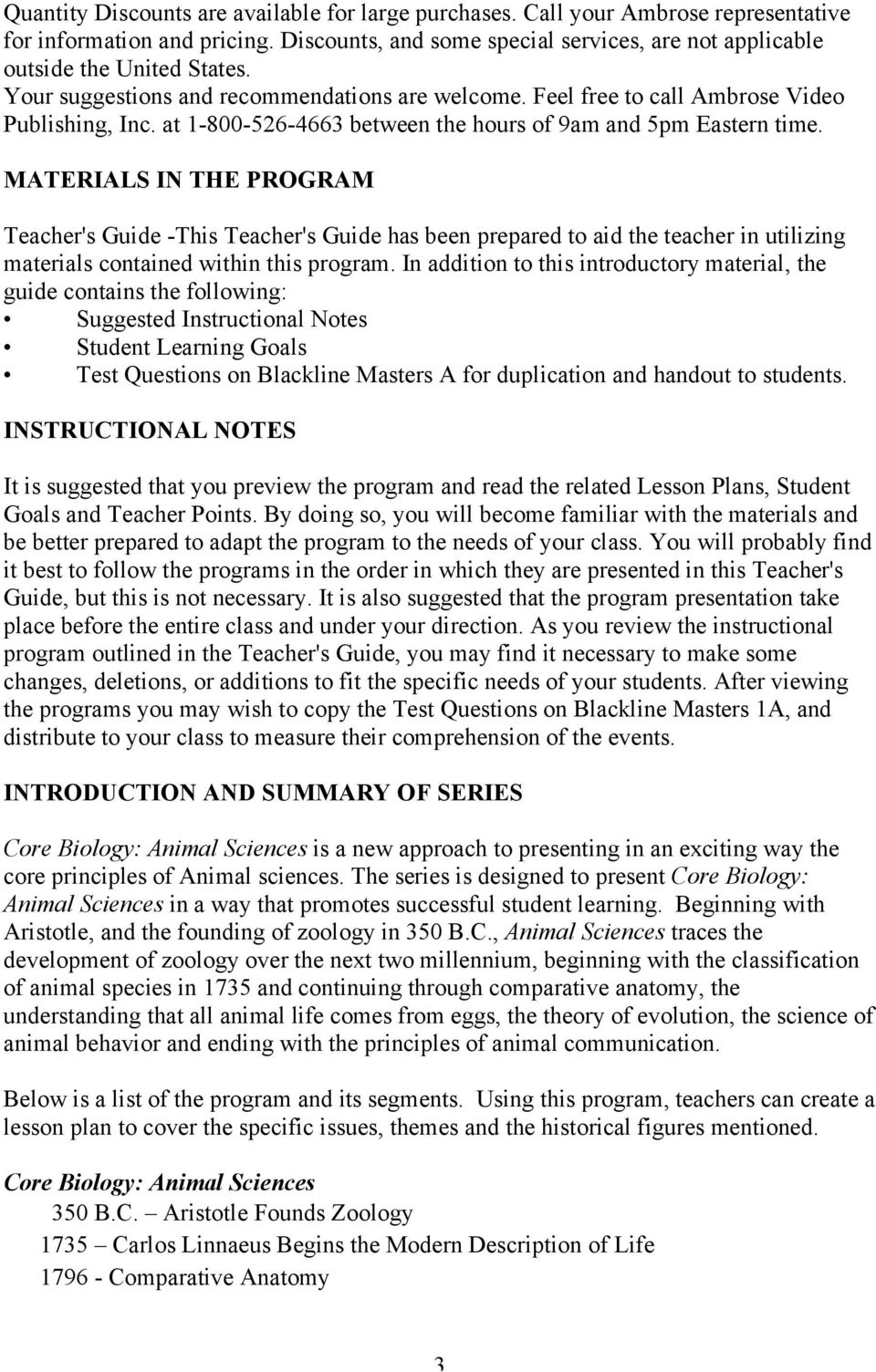MATERIALS IN THE PROGRAM Teacher's Guide -This Teacher's Guide has been prepared to aid the teacher in utilizing materials contained within this program.