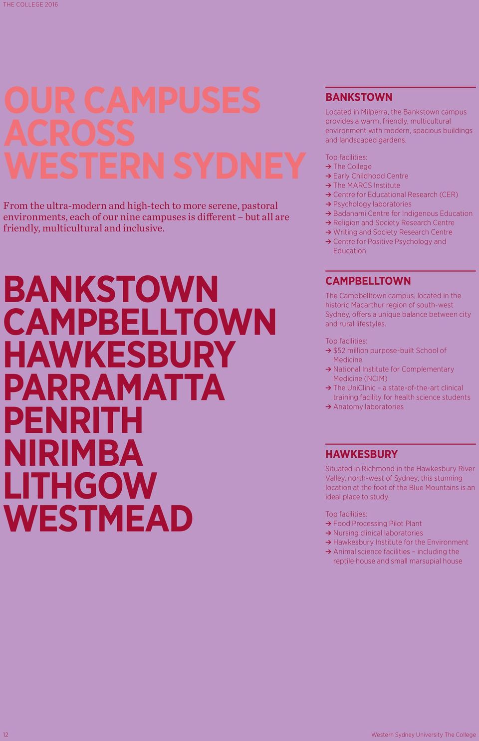 Top reasons why you should choose Western Sydney University The