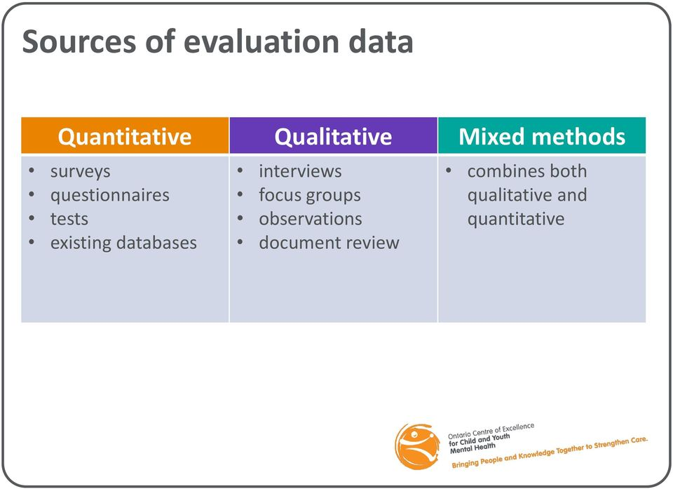 databases interviews focus groups observations