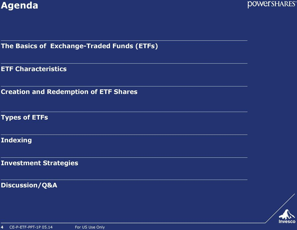 Shares Types of ETFs Indexing Investment Strategies