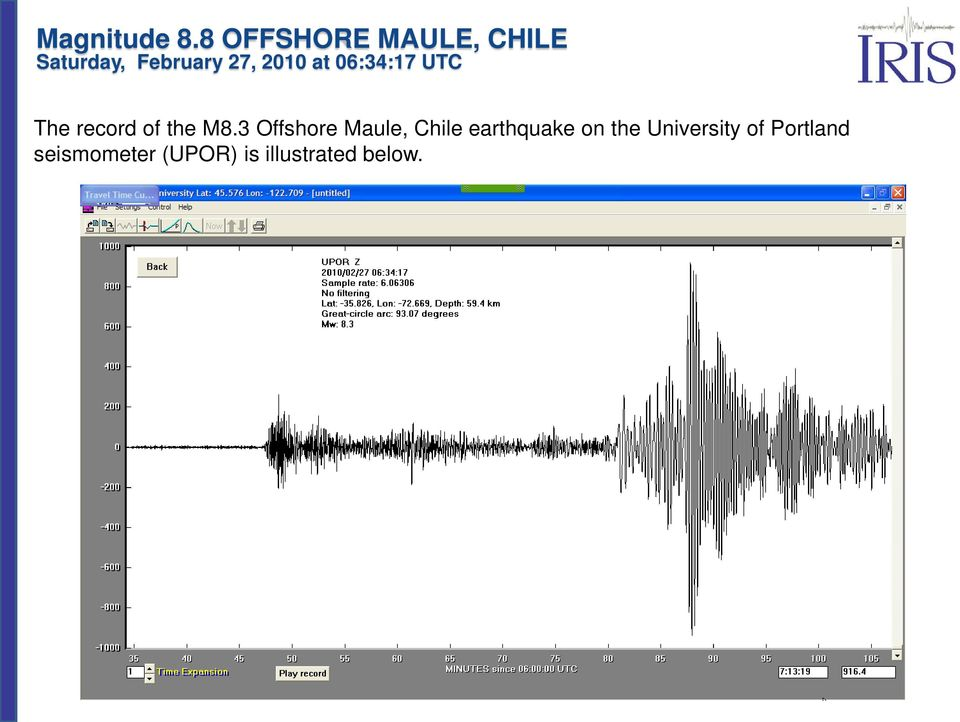 earthquake on the University of