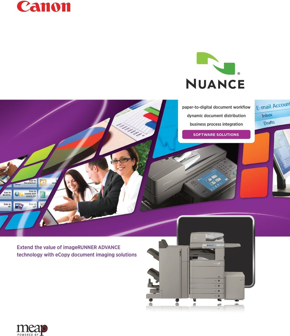 SOFTWARE SOLUTIONS Extend the value of imagerunner
