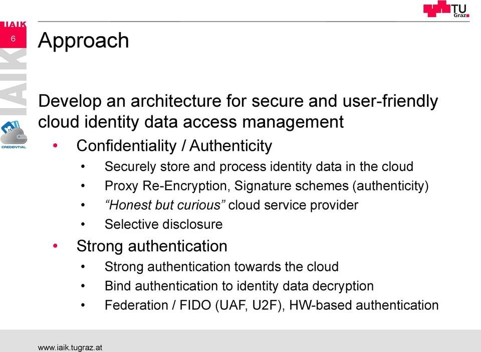 schemes (authenticity) Honest but curious cloud service provider Selective disclosure Strong authentication Strong
