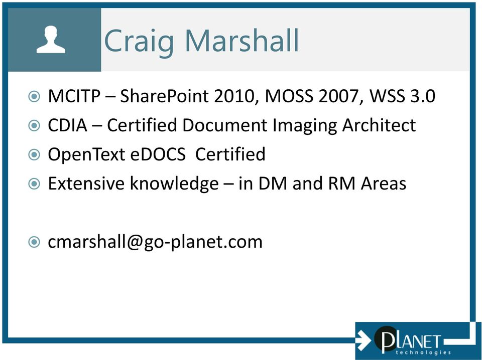 0 CDIA Certified Document Imaging Architect