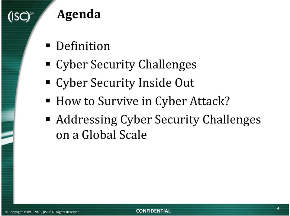 How to Survive in Cyber Attack?