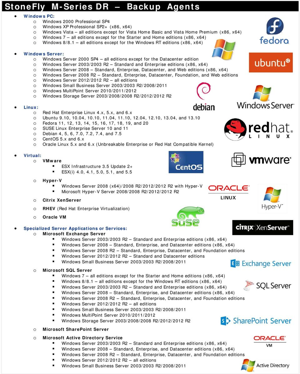 1 all editins except fr the Windws RT editins (x86, x64) Windws Server: Windws Server 2000 SP4 all editins except fr the Datacenter editin Windws Server 2003/2003 R2 Standard and Enterprise editins