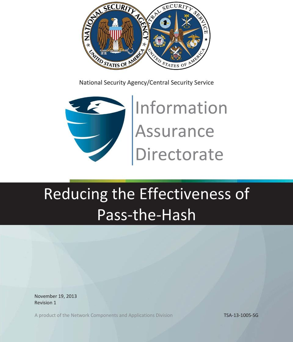 Effectiveness of Pass-the-Hash November 19, 2013 Revision