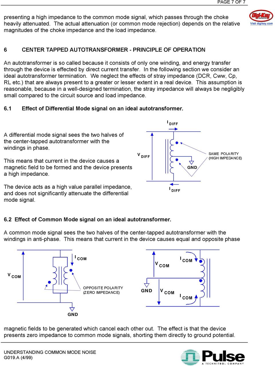 6 CENTER TAPPED AUTOTRANSFORMER - PRINCIPLE OF OPERATION An autotransformer is so called because it consists of only one winding, and energy transfer through the device is effected by direct current