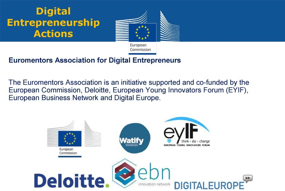 and co-funded by the European Commission, Deloitte, European Young