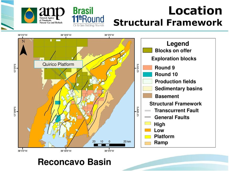 fields Sedimentary basins Basement Structural Framework