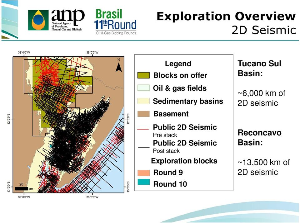 Public 2D Seismic Post stack Exploration blocks Round 9 Round 10