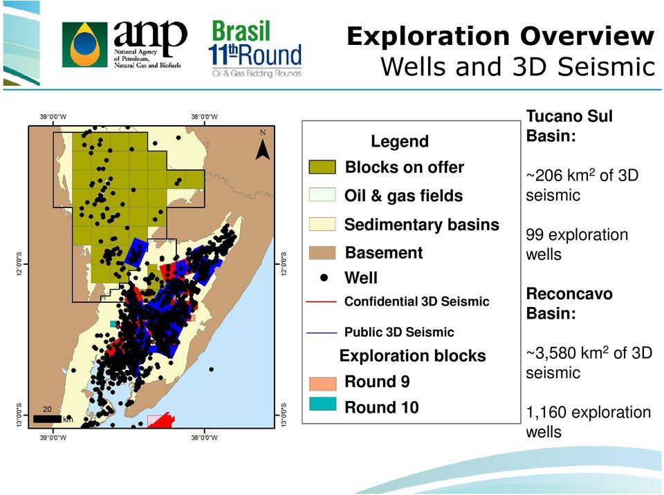 Seismic Exploration blocks Round 9 Round 10 Tucano Sul Basin: ~206 km 2 of 3D