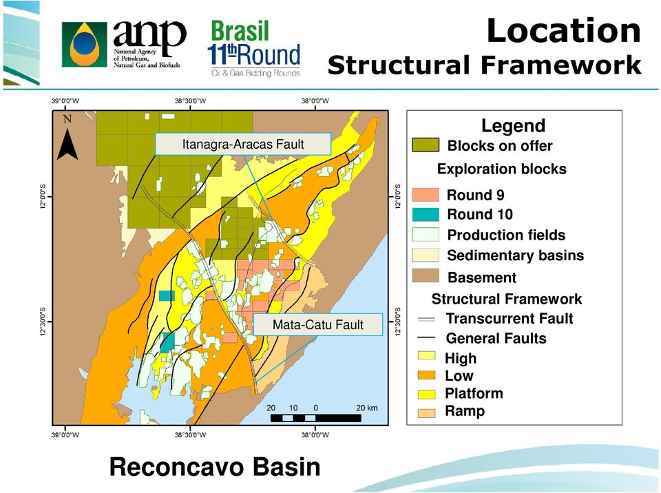 Production fields Sedimentary basins Basement Structural Framework