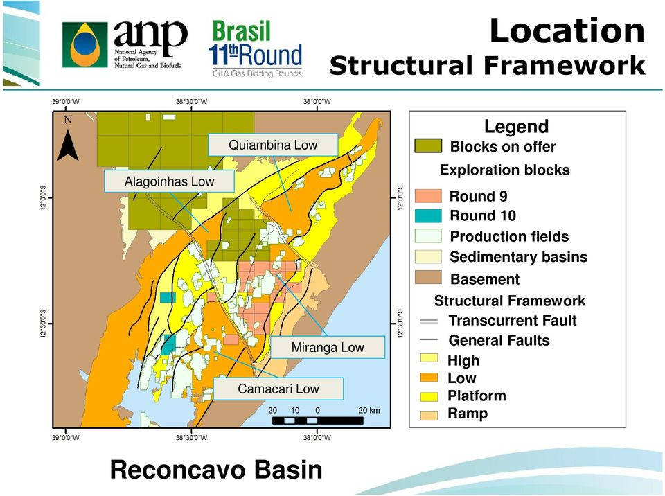 Round 10 Production fields Sedimentary basins Basement Structural