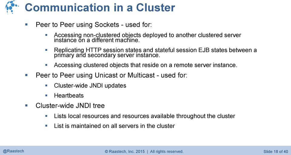 Accessing clustered objects that reside on a remote server instance.