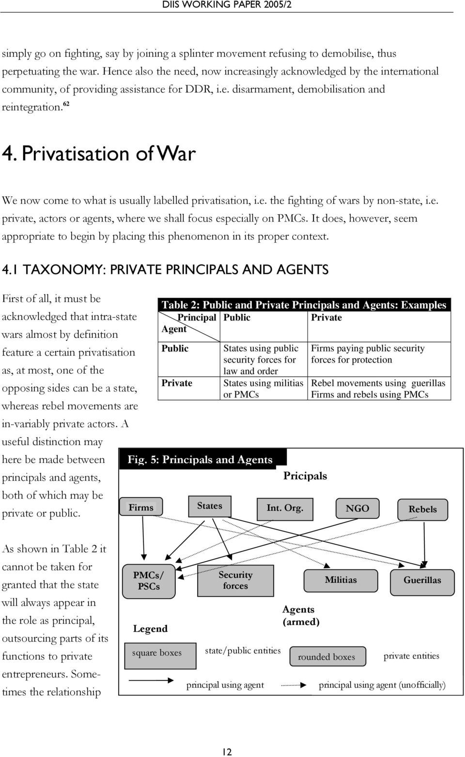Privatisation of War We now come to what is usually labelled privatisation, i.e. the fighting of wars by non-state, i.e. private, actors or agents, where we shall focus especially on PMCs.
