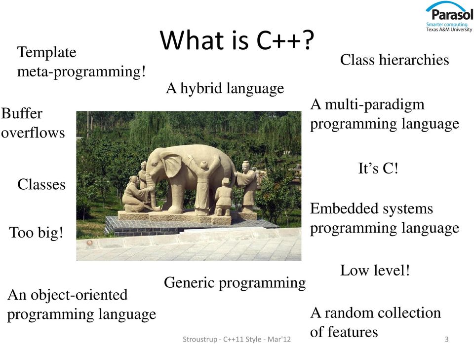 Embedded systems programming language An object-oriented programming language Low