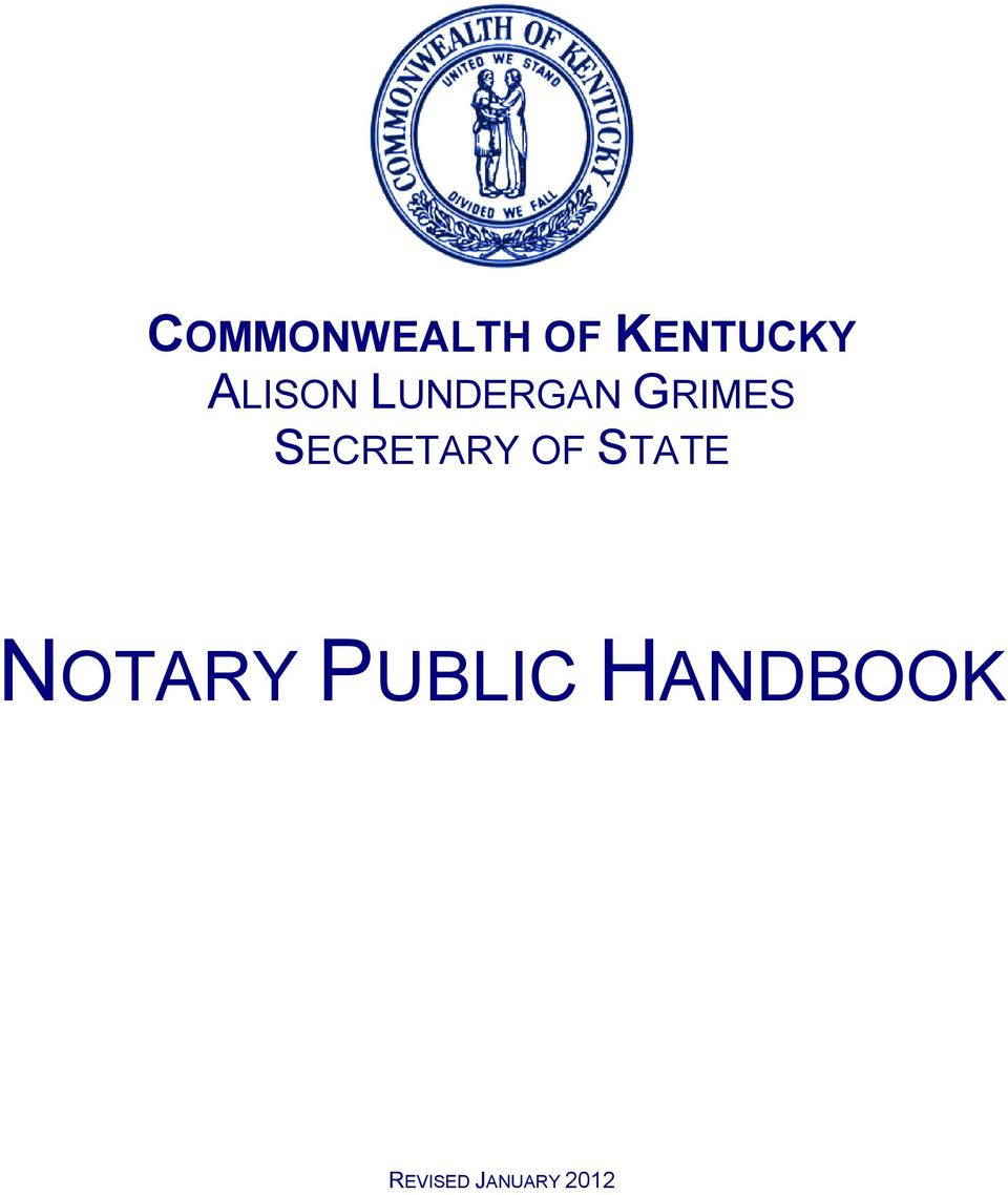 SECRETARY OF STATE NOTARY