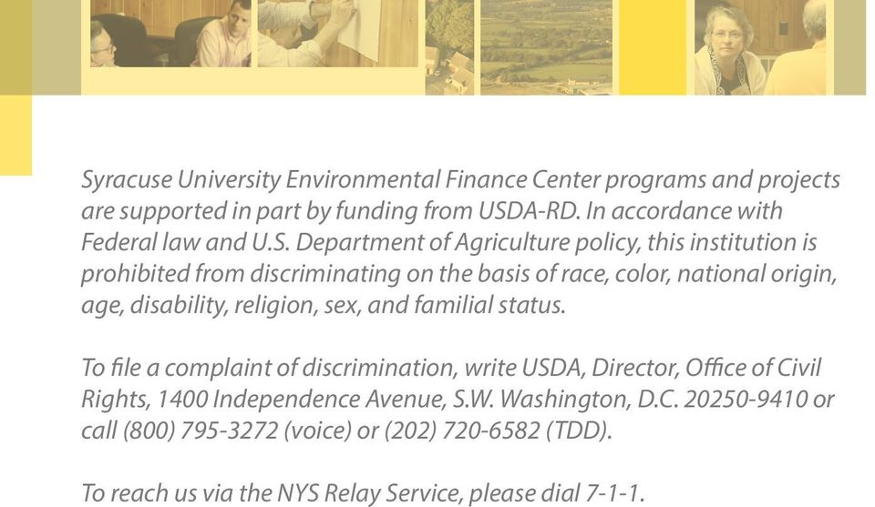Department of Agriculture policy, this institution is prohibited from discriminating on the basis of race, color, national origin, age, disability,