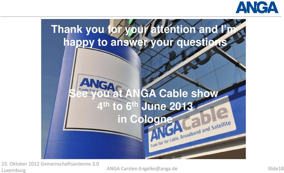 Cable show 4 th to 6 th June 2013 in