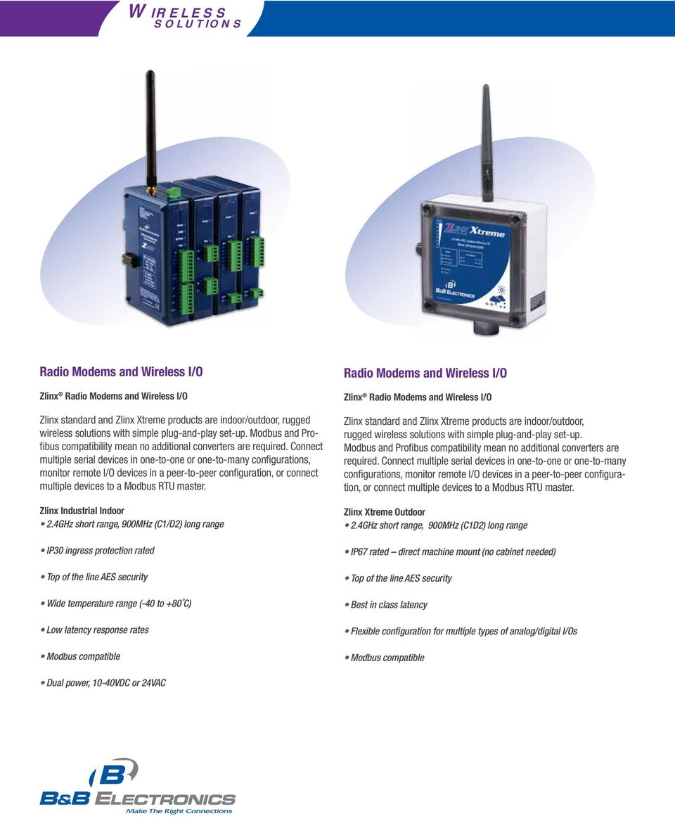Connect multiple serial devices in one-to-one or one-to-many configurations, monitor remote I/O devices in a peer-to-peer configuration, or connect multiple devices to a Modbus RTU master.