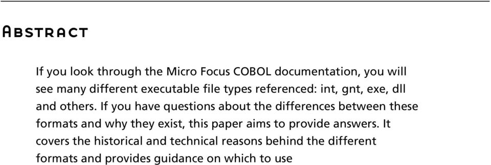 If you have questions about the differences between these formats and why they exist, this paper