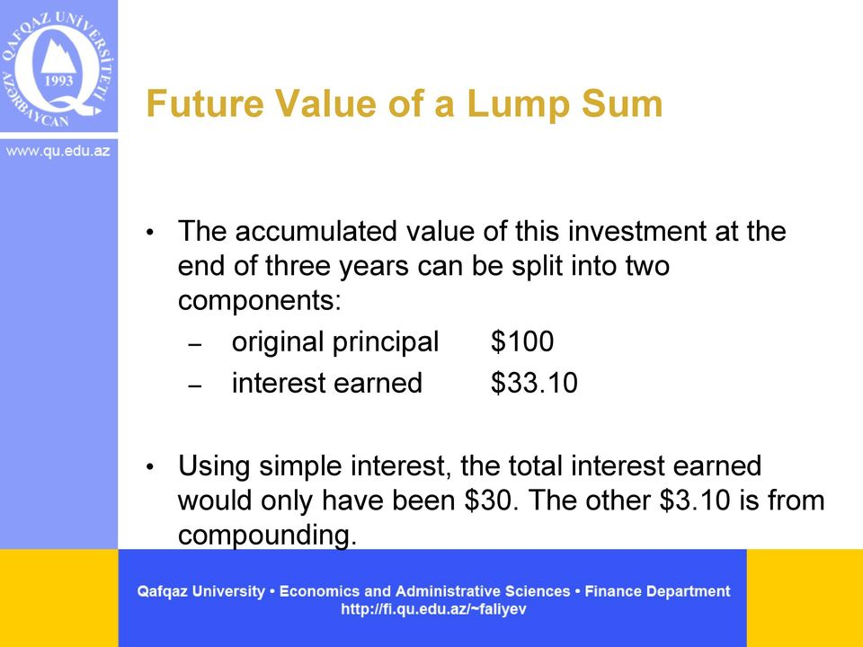 principal $100 interest earned $33.