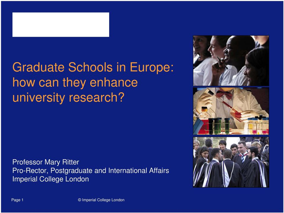 Professor Mary Ritter Pro-Rector,