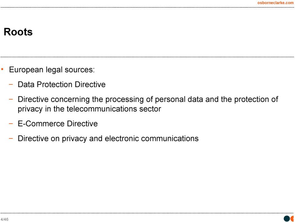 protection of privacy in the telecommunications sector
