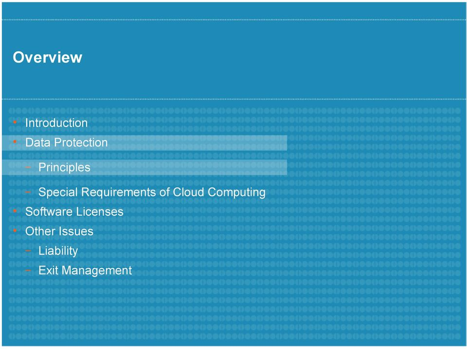 Requirements of Cloud Computing