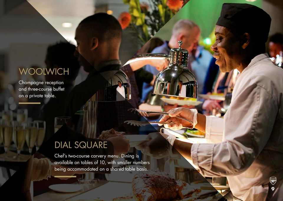 Dial Square Chef s two-course carvery menu.
