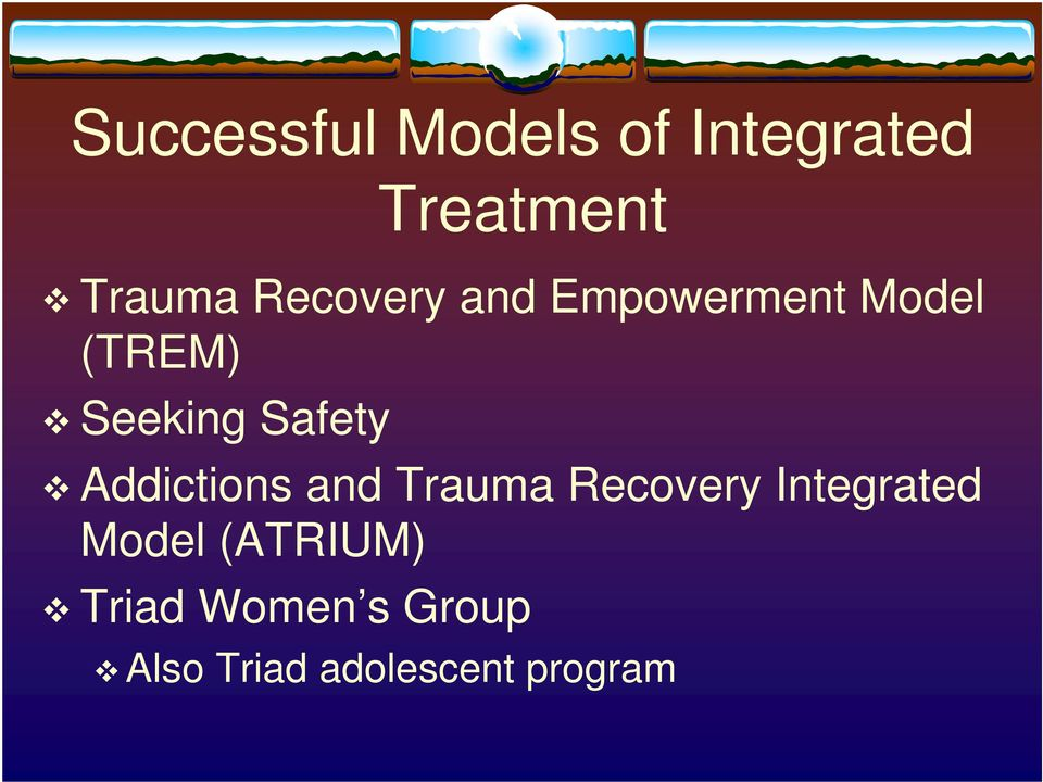 Safety Addictions and Trauma Recovery Integrated