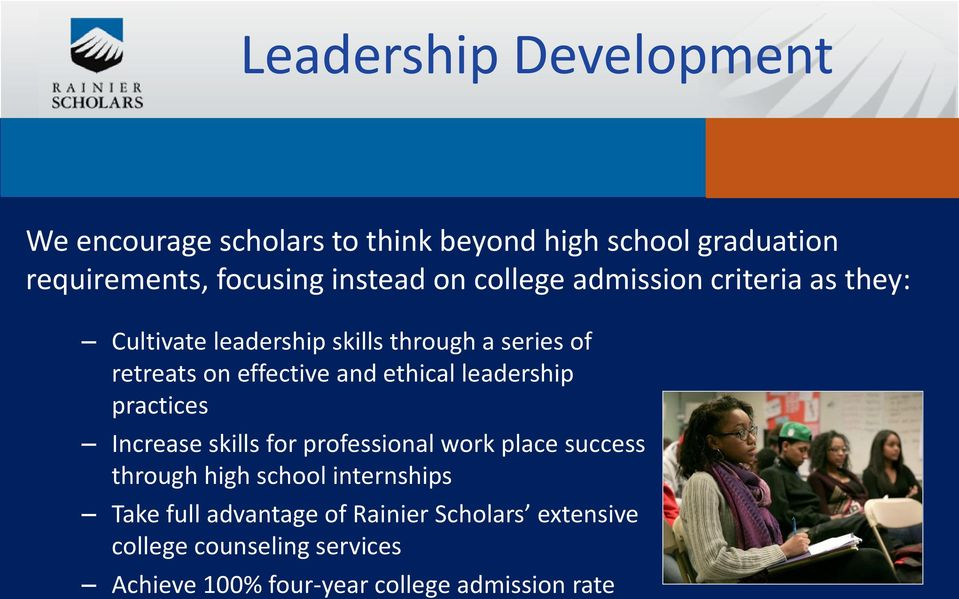 ethical leadership practices Increase skills for professional work place success through high school internships