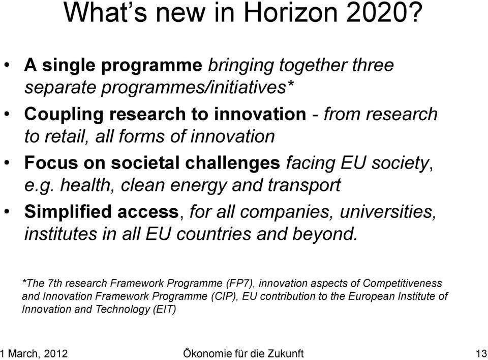 innovation Focus on societal challenge