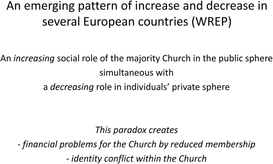 with a decreasing role in individuals private sphere This paradox creates -