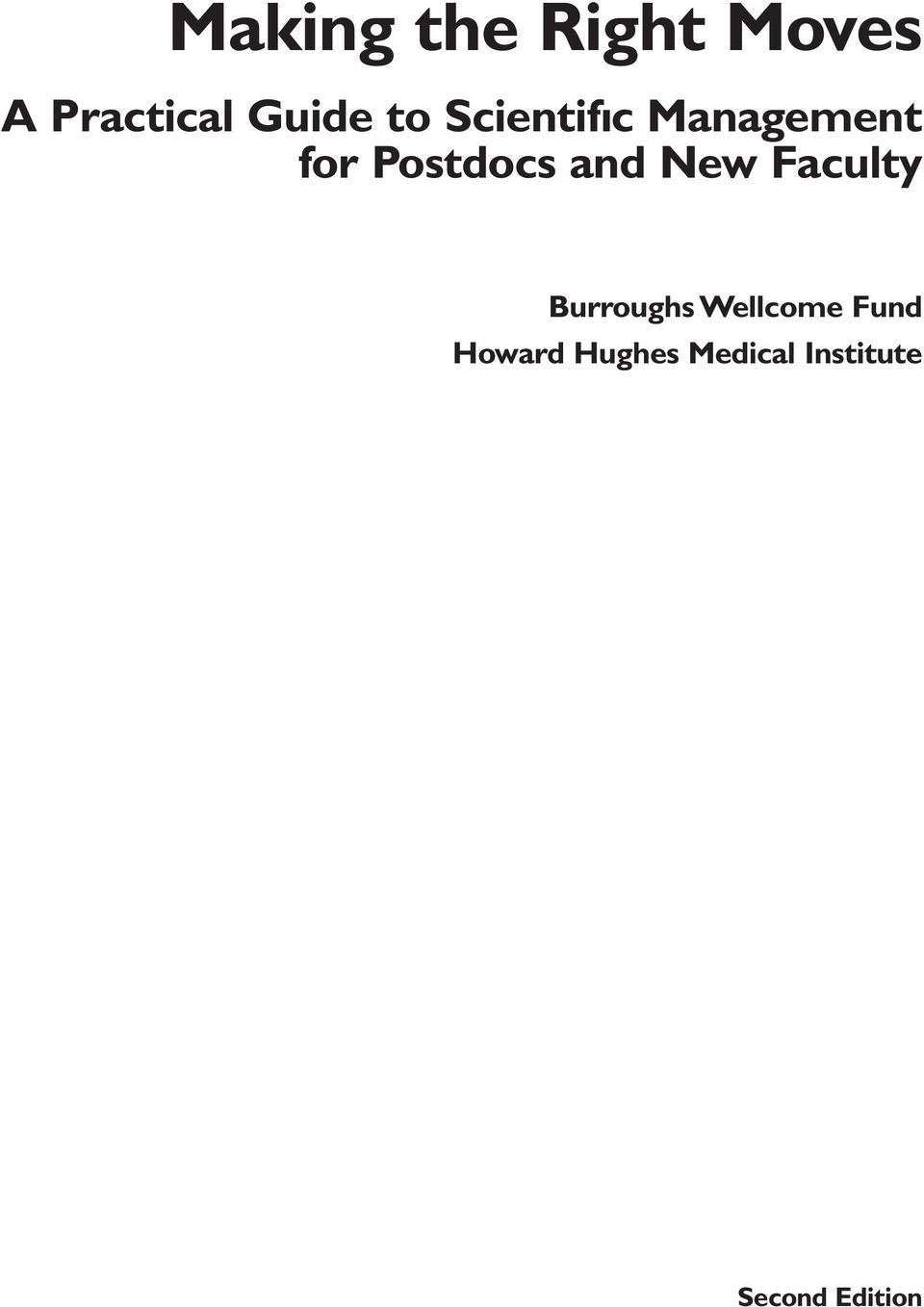 New Faculty Burroughs Wellcome Fund