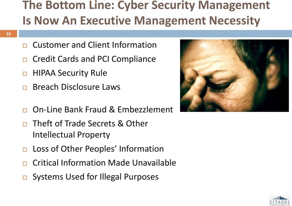 Laws On-Line Bank Fraud & Embezzlement Theft of Trade Secrets & Other Intellectual Property Loss