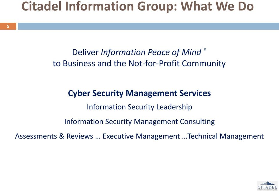 Management Services Information Security Leadership Information Security