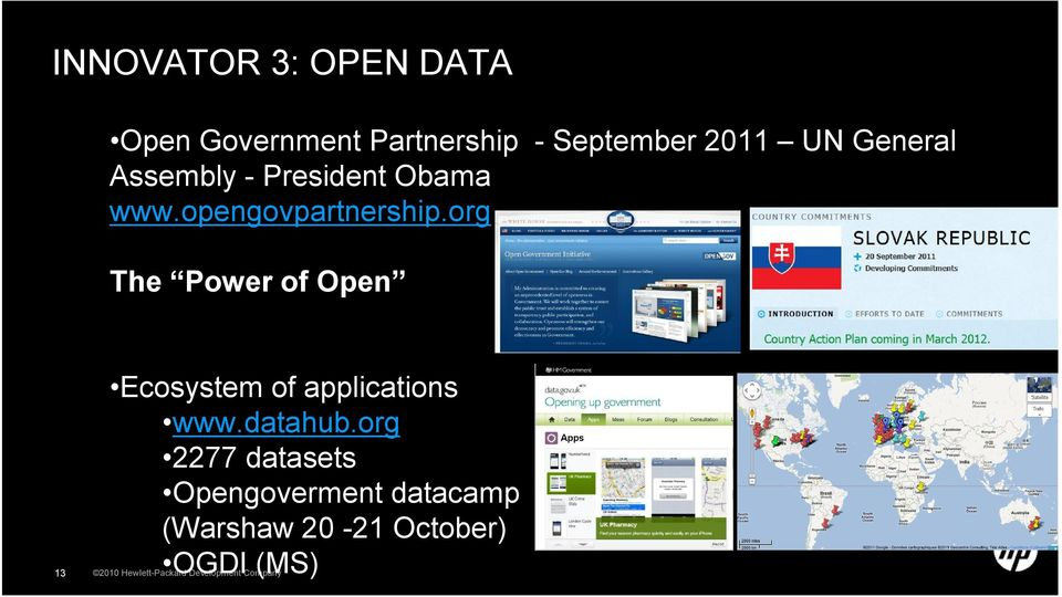 org The Power of Open Ecosystem of applications www.datahub.